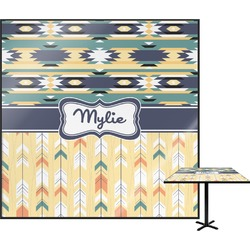 """Tribal2 Square Table Top - 24"""" (Personalized)"""