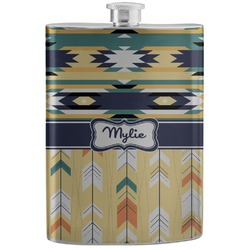 Tribal2 Stainless Steel Flask (Personalized)