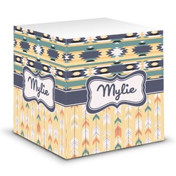 Tribal2 Sticky Note Cube (Personalized)