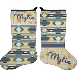 Tribal2 Holiday Stocking - Double-Sided - Neoprene (Personalized)