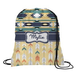 Tribal2 Drawstring Backpack (Personalized)