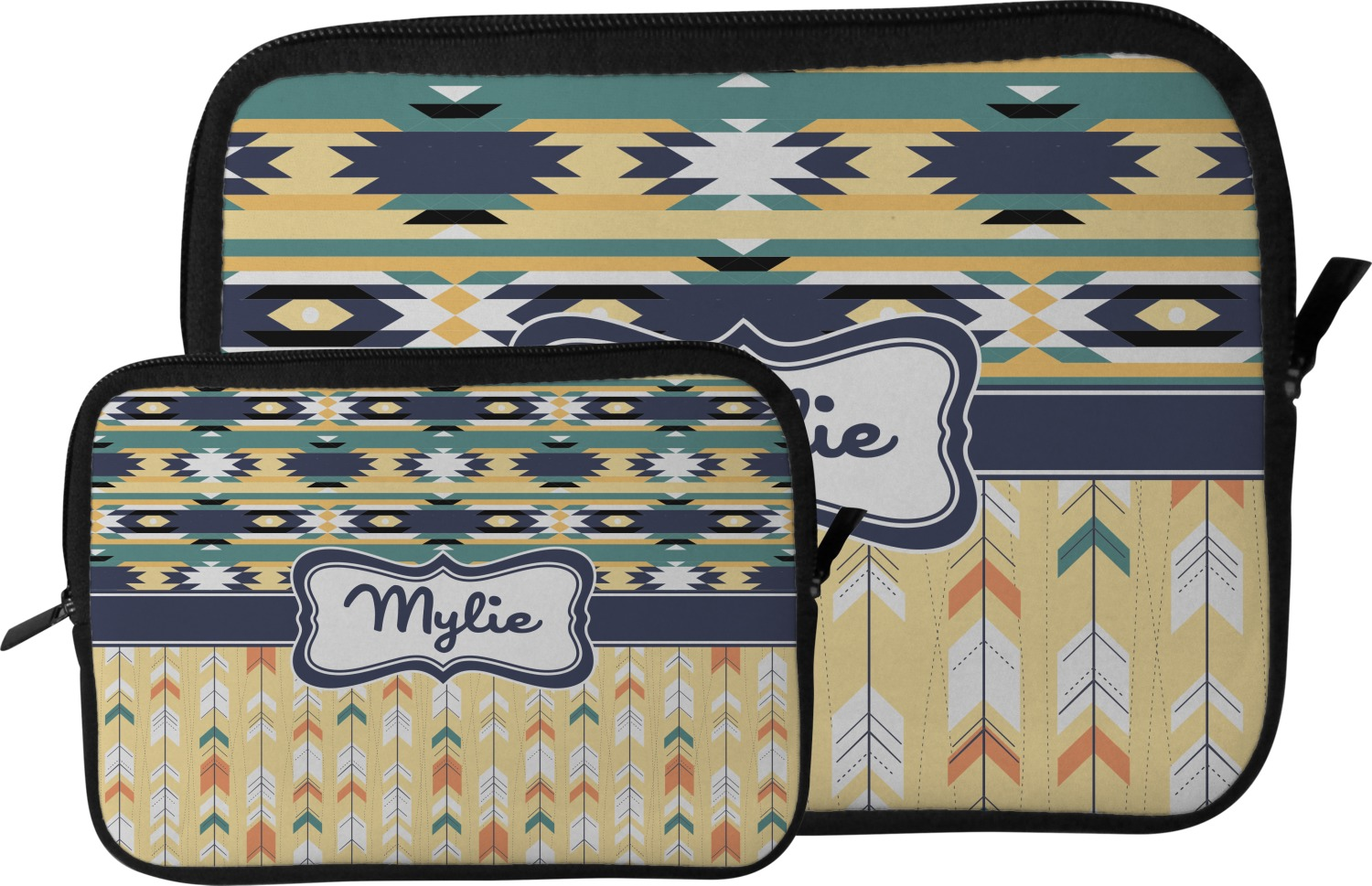 Tribal2 tablet case sleeve large personalized for Table th size