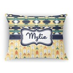 Tribal2 Rectangular Throw Pillow (Personalized)