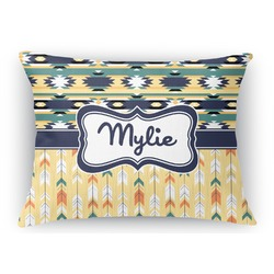 Tribal2 Rectangular Throw Pillow Case (Personalized)