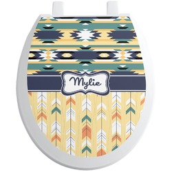 Tribal2 Toilet Seat Decal (Personalized)