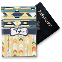 Tribal2 Vinyl Passport Holder (Personalized)