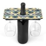 Tribal2 Wine Bottle & Glass Holder (Personalized)