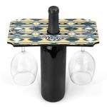 Tribal2 Wine Bottle & Glass Holder (Personalized)