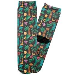 Hawaiian Masks Adult Crew Socks (Personalized)