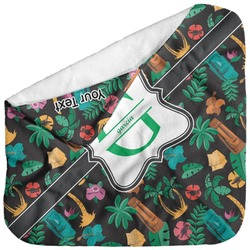 Hawaiian Masks Baby Hooded Towel (Personalized)