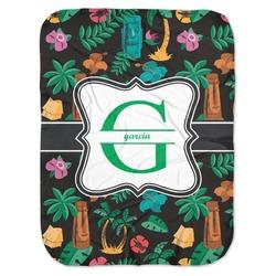 Hawaiian Masks Baby Swaddling Blanket (Personalized)