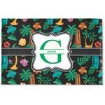 Hawaiian Masks Woven Mat (Personalized)