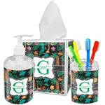 Hawaiian Masks Bathroom Accessories Set (Personalized)