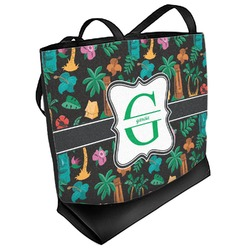 Hawaiian Masks Beach Tote Bag (Personalized)
