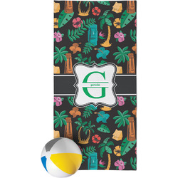 Hawaiian Masks Beach Towel (Personalized)