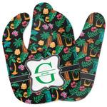 Hawaiian Masks Baby Bib w/ Name and Initial