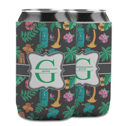 Hawaiian Masks Can Cooler (12 oz) w/ Name and Initial