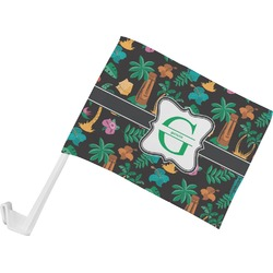 Hawaiian Masks Car Flag (Personalized)