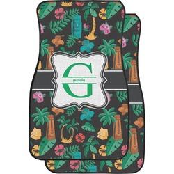 Hawaiian Masks Car Floor Mats (Front Seat) (Personalized)