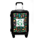 Hawaiian Masks Carry On Hard Shell Suitcase (Personalized)