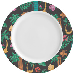 Hawaiian Masks Ceramic Dinner Plates (Set of 4) (Personalized)