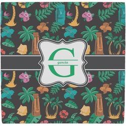 Hawaiian Masks Ceramic Tile Hot Pad (Personalized)