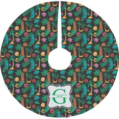 Hawaiian Masks Tree Skirt (Personalized)