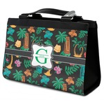 Hawaiian Masks Classic Tote Purse w/ Leather Trim (Personalized)