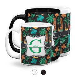 Hawaiian Masks Coffee Mugs (Personalized)