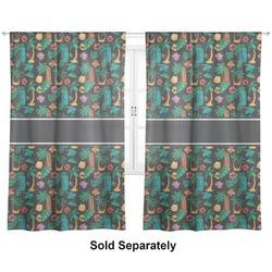 "Hawaiian Masks Curtains - 40""x54"" Panels - Unlined (2 Panels Per Set) (Personalized)"