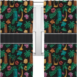 Hawaiian Masks Curtains (2 Panels Per Set) (Personalized)