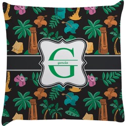 Hawaiian Masks Decorative Pillow Case (Personalized)