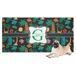 Hawaiian Masks Dog Towel (Personalized)