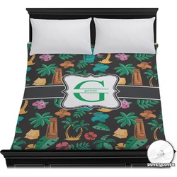 Hawaiian Masks Duvet Cover (Personalized)
