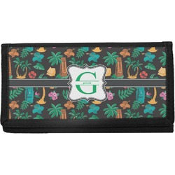 Hawaiian Masks Canvas Checkbook Cover (Personalized)