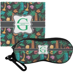 Hawaiian Masks Eyeglass Case & Cloth (Personalized)