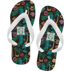 Hawaiian Masks Flip Flops (Personalized)
