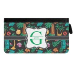 Hawaiian Masks Genuine Leather Ladies Zippered Wallet (Personalized)