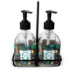 Hawaiian Masks Soap & Lotion Dispenser Set (Glass) (Personalized)