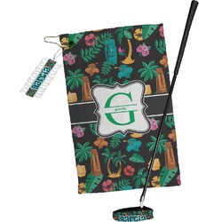 Hawaiian Masks Golf Towel Gift Set (Personalized)