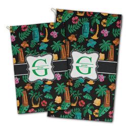 Hawaiian Masks Golf Towel - Full Print w/ Name and Initial