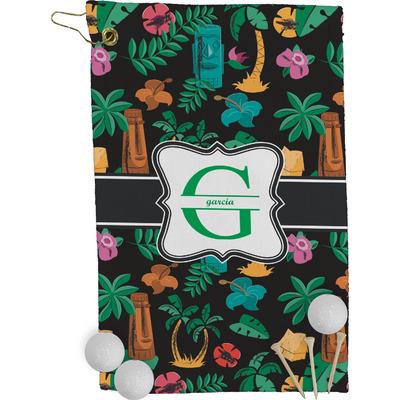 Hawaiian Masks Golf Towel - Full Print (Personalized)