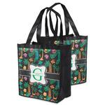 Hawaiian Masks Grocery Bag (Personalized)