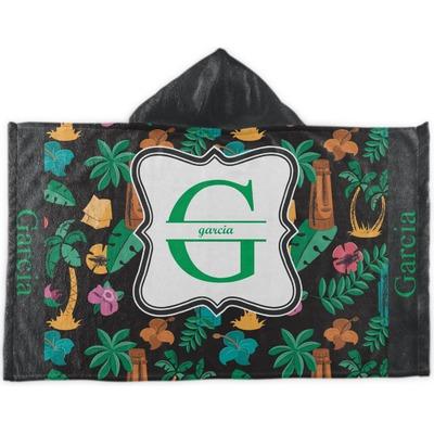 Hawaiian Masks Kids Hooded Towel (Personalized)