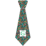 Hawaiian Masks Iron On Tie - 4 Sizes w/ Name and Initial