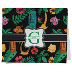 Hawaiian Masks Kitchen Towel - Full Print (Personalized)