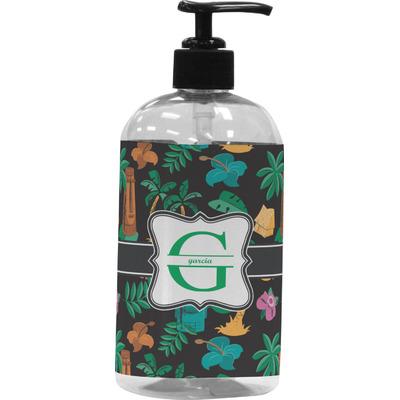 Hawaiian Masks Plastic Soap / Lotion Dispenser (16 oz - Large) (Personalized)