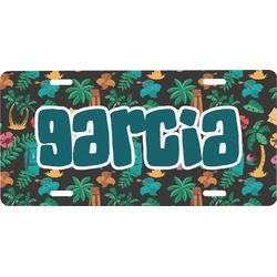 Hawaiian Masks Front License Plate (Personalized)