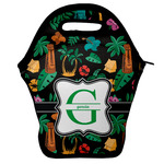 Hawaiian Masks Lunch Bag w/ Name and Initial