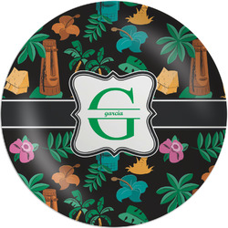 "Hawaiian Masks Melamine Plate - 8"" (Personalized)"